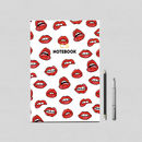 Personalised Lips Notebook