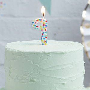 Polka Dot Candle Number Nine Birthday Cake Candle