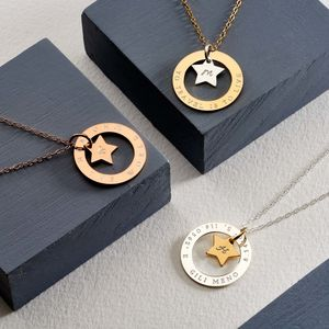Personalised Star Halo Necklace