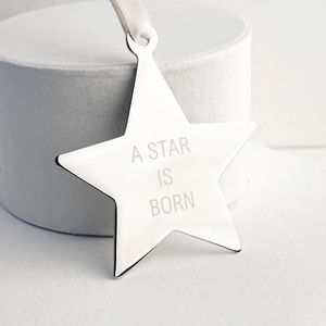 Personalised Baby Star Decoration