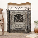 Scrolled Black Fire Screen And Spark Protector