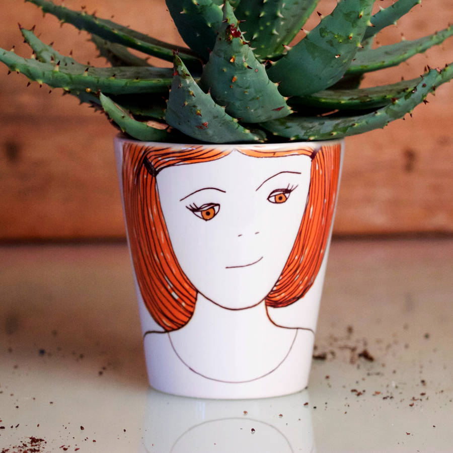 Personalised Girl 39 S Head Plant Pot By Snapdragon