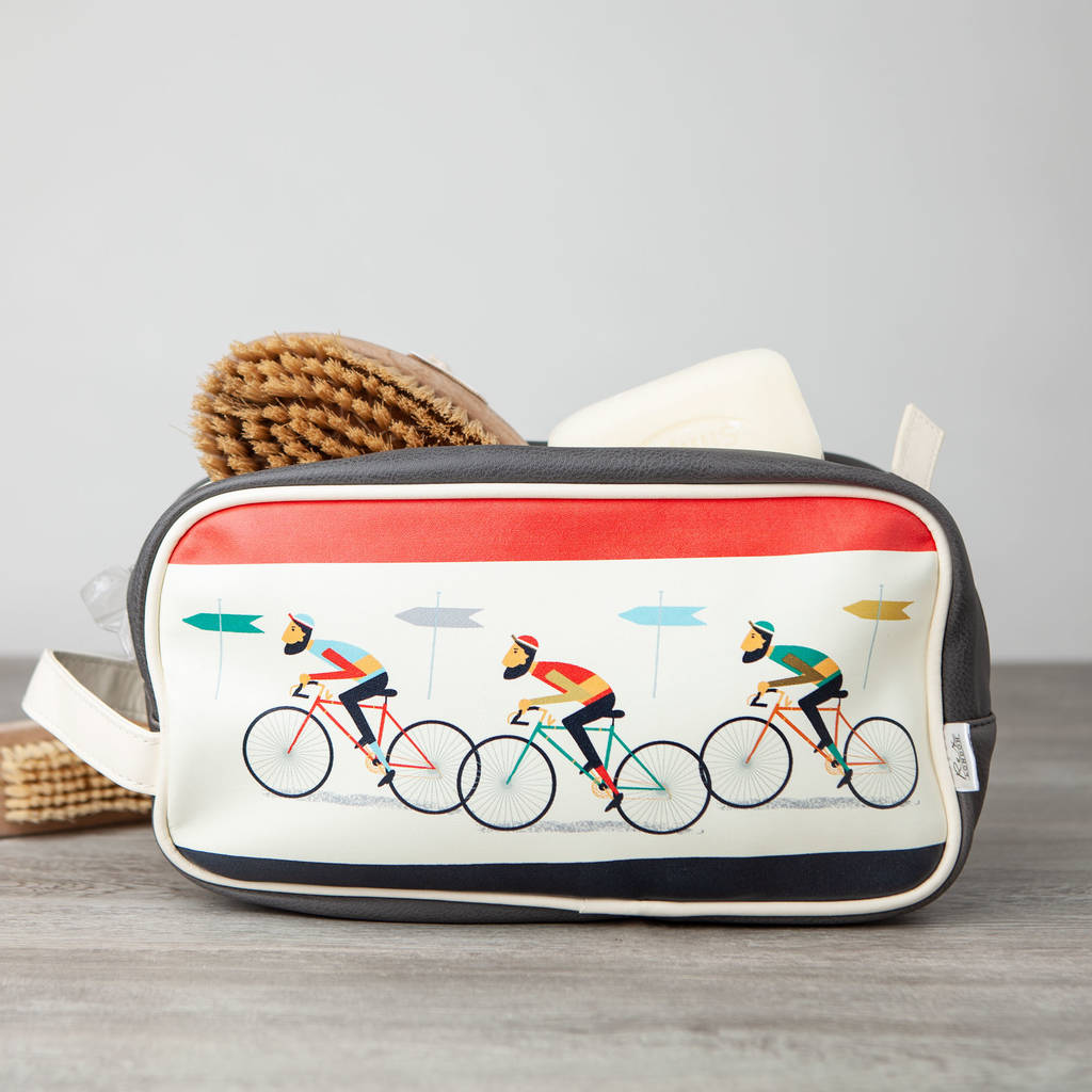Cyclist Vintage Style Bicycle Wash Bag Toiletry Bag By Little Baby Company Notonthehighstreet Com