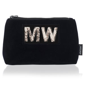 Diva Collection Small Pouch In Midnight Navy Velvet