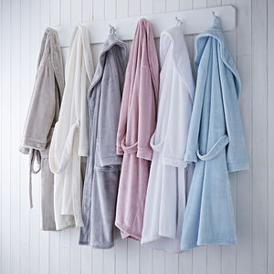 Personalised Supersoft Fleece Bathrobe - bathroom