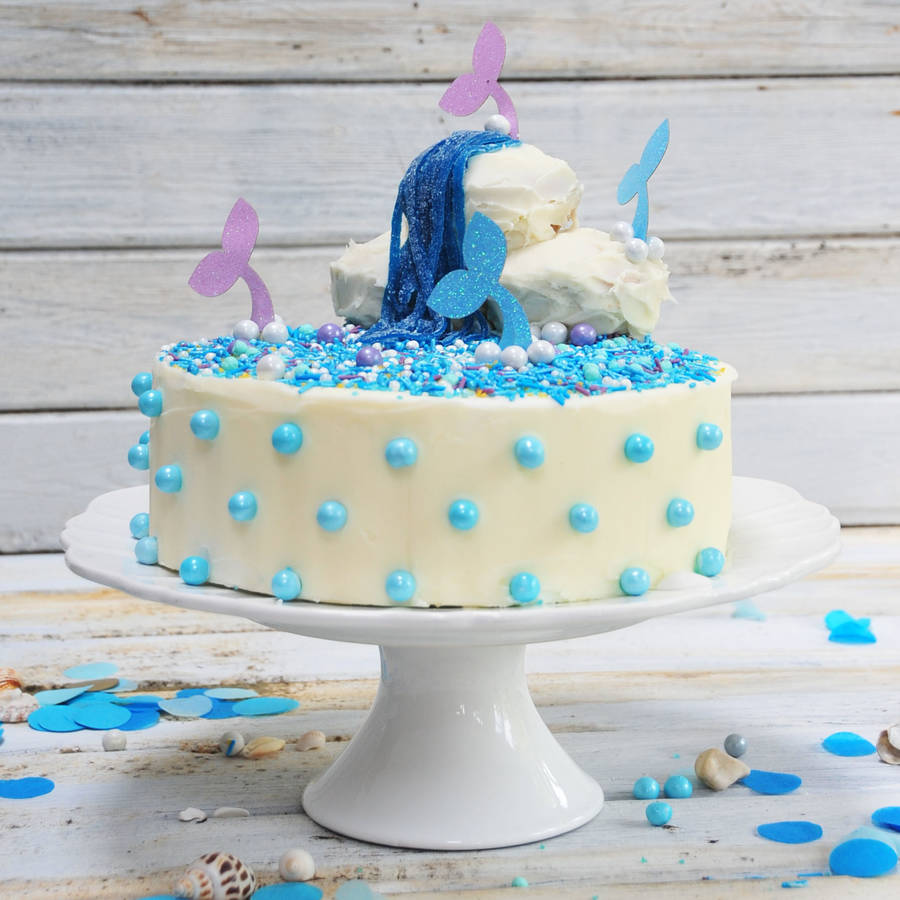 Mermaid Magic Birthday Cake Kit By Craft & Crumb