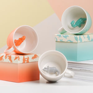 Dinosaur Mug And Matching Egg Cup Set - egg cups & cosies