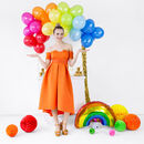 Bright Colourful Rainbow Balloon