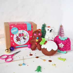 Four Piece Felt Decoration Craft Kit Sewing Set - creative kits & experiences
