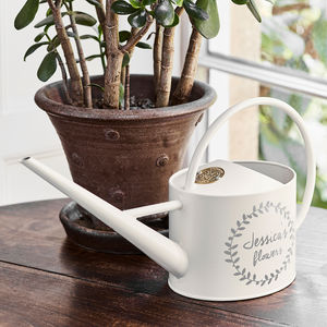 Personalised Large Cream Watering Can