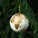 Personalised Hand Painted World Globe Bauble