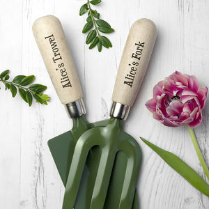 Personalised Trowel And Fork Gift Set