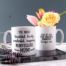 Personalised Marvellous Mum Mug