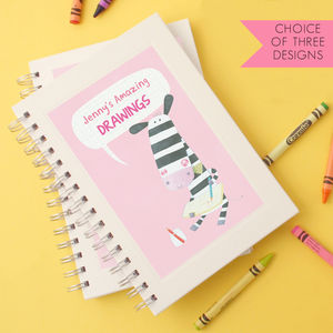Personalised Girl's Animal Sketchbook - gifts for babies & children