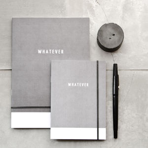 'Whatever' Grey Pocket Notebook