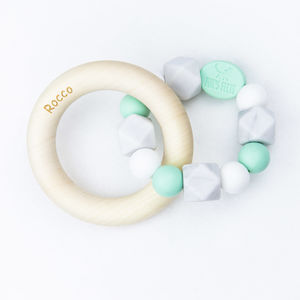Harley Rattle Teether With Birch Rings - teethers