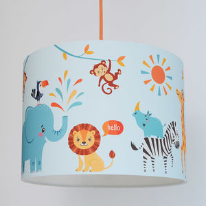 Safari Animals Handmade Paper Lampshade