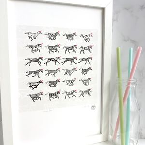 'Unicorn Race' Giclee Print