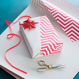 Recycled Geometric Double Side Wrapping Paper - cards & wrap
