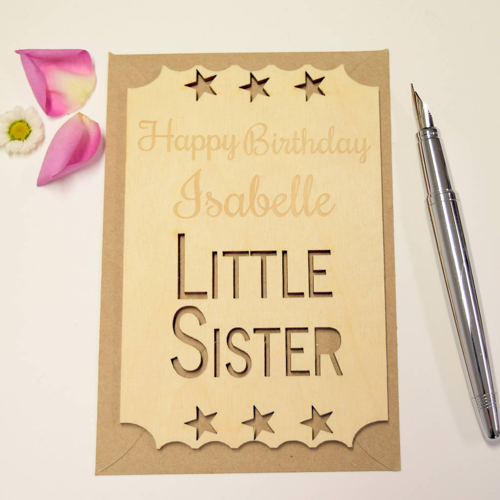 Birthday Cards For Little Sister