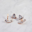 Blossom Ear Jacket - Rose Gold & Crystal Blue Shade