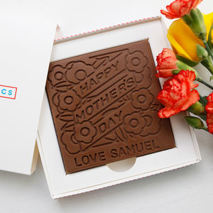 Personalised ' Floral Mother's Day Chocolate Card' - what's new