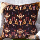Large And Luxurious Velvet Cushion 'Reader' 55x55cm