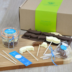Chocolates For Dad: Lollipop Moustaches Kit - novelty chocolates