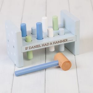 Personalised Stars Toy Hammer Bench - gifts for babies