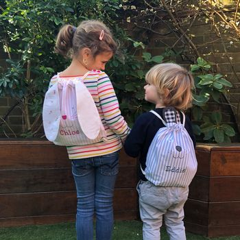 Personalised Bear And Bunny Backpacks