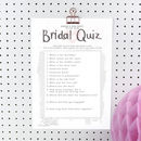 Printable Personalised Bride To Be Quiz