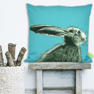 The Runners Number Five Hare Cushion - living room
