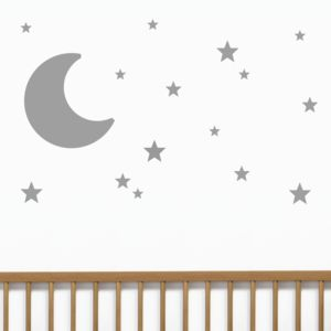 Moon And Stars Wall Stickers - children's room