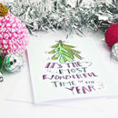 Mistletoe And Hand Lettered Christmas Card