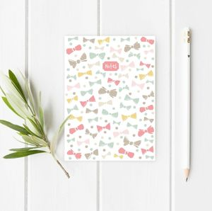 A5 Bows And Dots Notebook