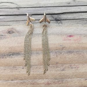 Aeroplane Vapour Trail Earrings