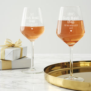 Personalised Girls' Night Wine Glass