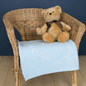 Personalised Embroidered Summer Fleece Pram Blanket - sleeping