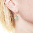 Ashiana Silver And Aqua Chalcedonay Earrings