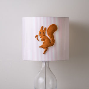Squirrel Nutkin™ 3D Appliqué Handmade Lampshade - living room