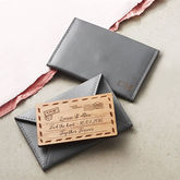 Personalised Leather Cardholder - anniversary gifts