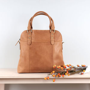 Ashbury Leather Shopper Tote, Tan