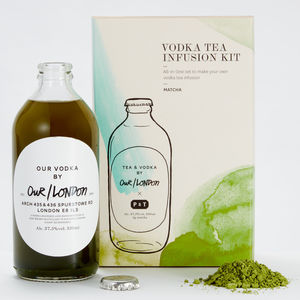 London Vodka And Matcha Tea Infusion Kit - wines, beers & spirits