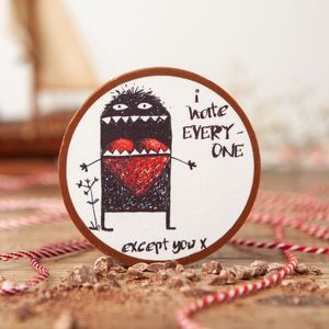 'I Hate Everyone Except You' Chocolate Medallion