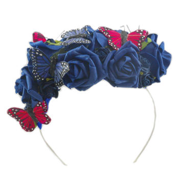 Hair Fascinator In Royal Blue Or Ivory