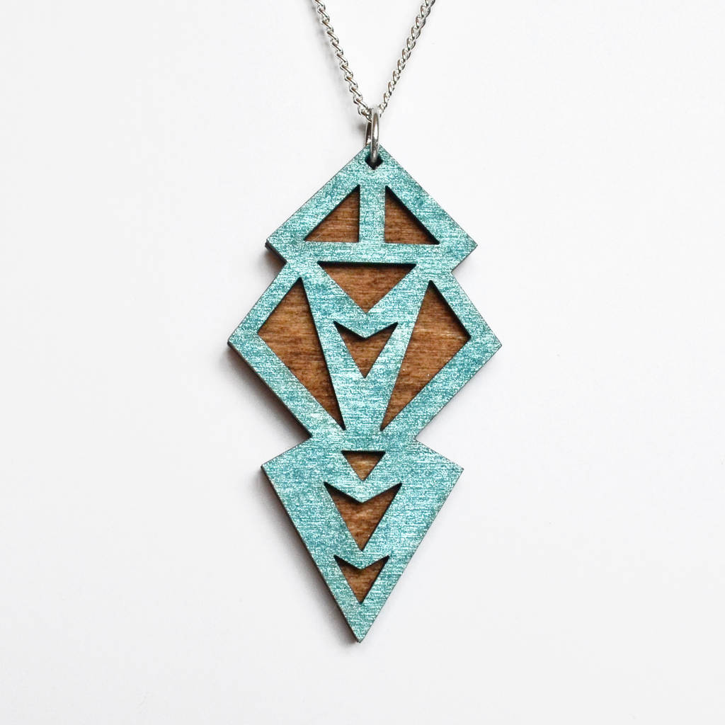 pendant necklace kate sterling silver geometric hewko products by