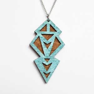 Contemporary Art Deco Geometric Pendant Necklace - necklaces & pendants