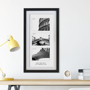 Our Three Favourite Cities Personalised Print