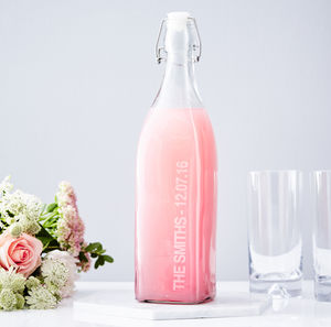 Personalised Glass Bottle - your spring wedding