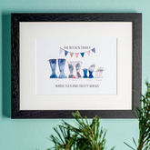 Personalised Welly Boot Family Print - gifts